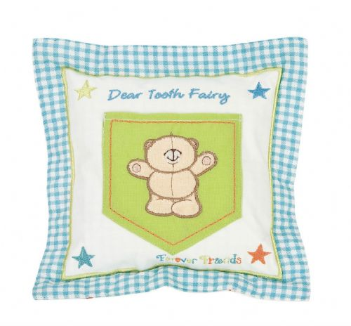 'IZZIWOTNOT' FOREVER FRIENDS BLUE COLOUR TOOTH FAIRY CUSHION